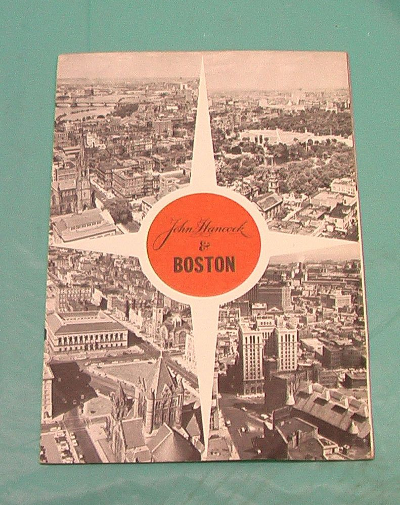1960 S John Hancock Mutual Life Insurance Company Brochure Boston