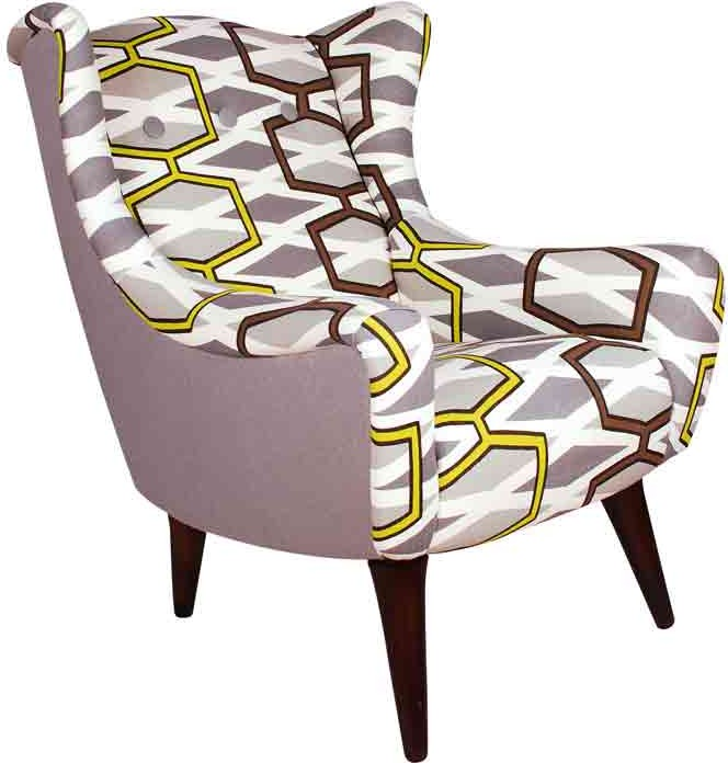 Ocean Lime Designers Guild Wing Chair from Alexander and Pearl