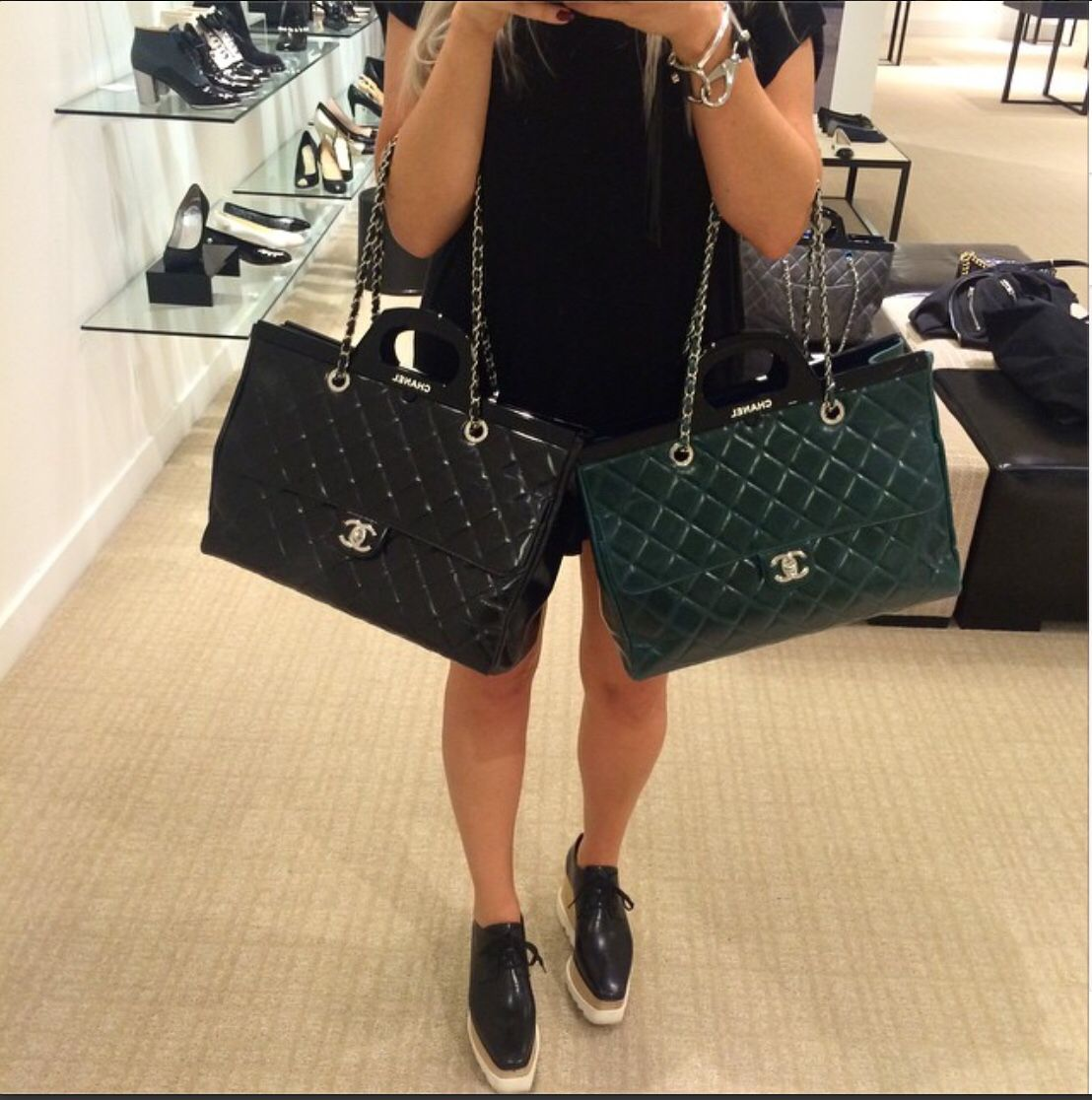 24e17bfe238c Chanel CC Delivery Quilted Tote Fall 2014 | Fashion | Delivery bag ...