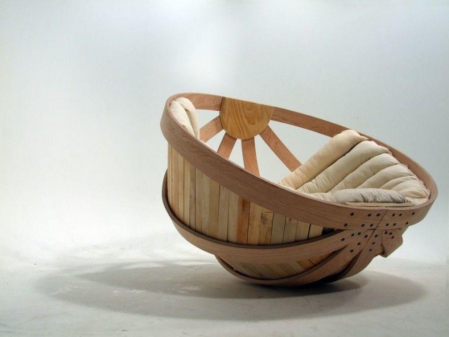 Superb Furniture Design Of Minimalist Sofa: Innovative Relaxation Furniture Design  Wooden Half Round Chair ~ Latricedesigns