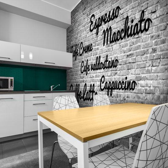 Szara Ozdoba Z Nazwami Kawy Do Dekoracji Kuchni Home Decor Home Decor Decals Decor