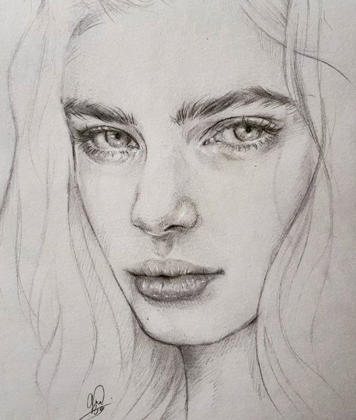 лёгкой картинки для рисования портреты отдых