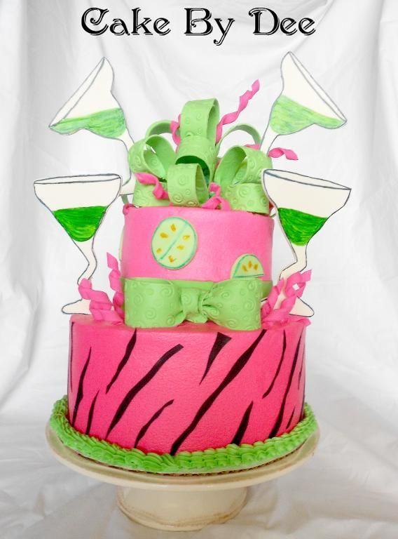 Cake Decorating Ideas Project On Craftsy Margarita Glass Cakes