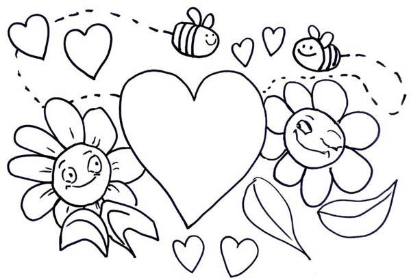 free valentine coloring pictures to print off | for Valentines Day ...
