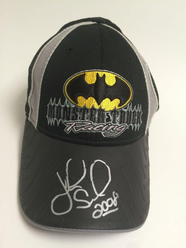 38cad7a3957 Batman Hat DC Comics Autographed John Seasock 2008 youth hat Monster Truck  Jam