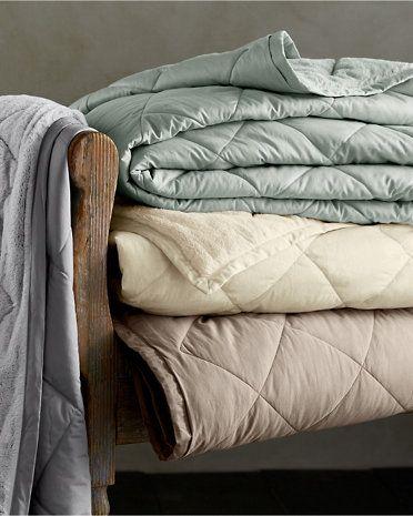 Garnet Hill Plush-Loft Blanket and Throw