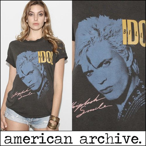Billy Idol To Be a Lover Album Cover Art Mens T Shirt Punk Rock Tour Music Merch