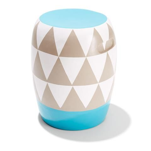 Enjoyable Terracotta Garden Stool Triangle Pattern Kmart Outdoor Pabps2019 Chair Design Images Pabps2019Com