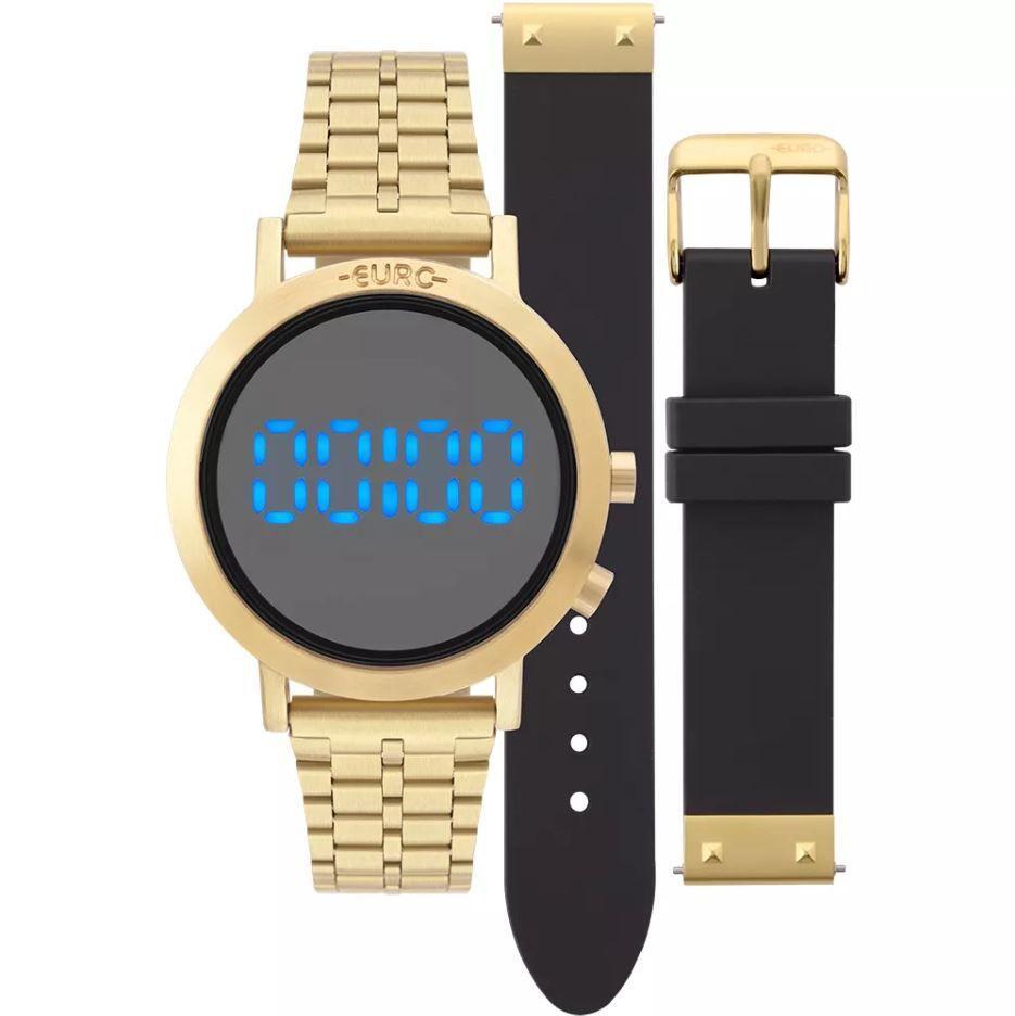 ce13d15be7c Relógio Euro Feminino Fashion Fit Dourado Troca Pulseiras EUBJ3407AA ...