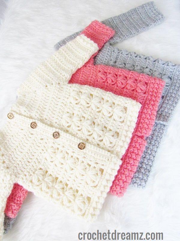 Textured Crochet Baby Sweater Pattern Breien En Haken Pinterest