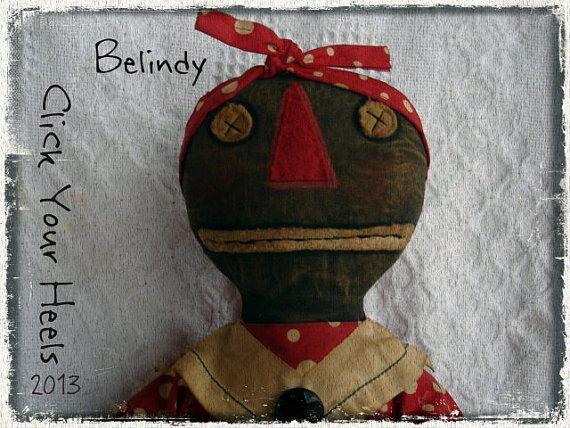 Primitive Black doll pattern Belindy by ClickThoseHeels on Etsy, $10.00
