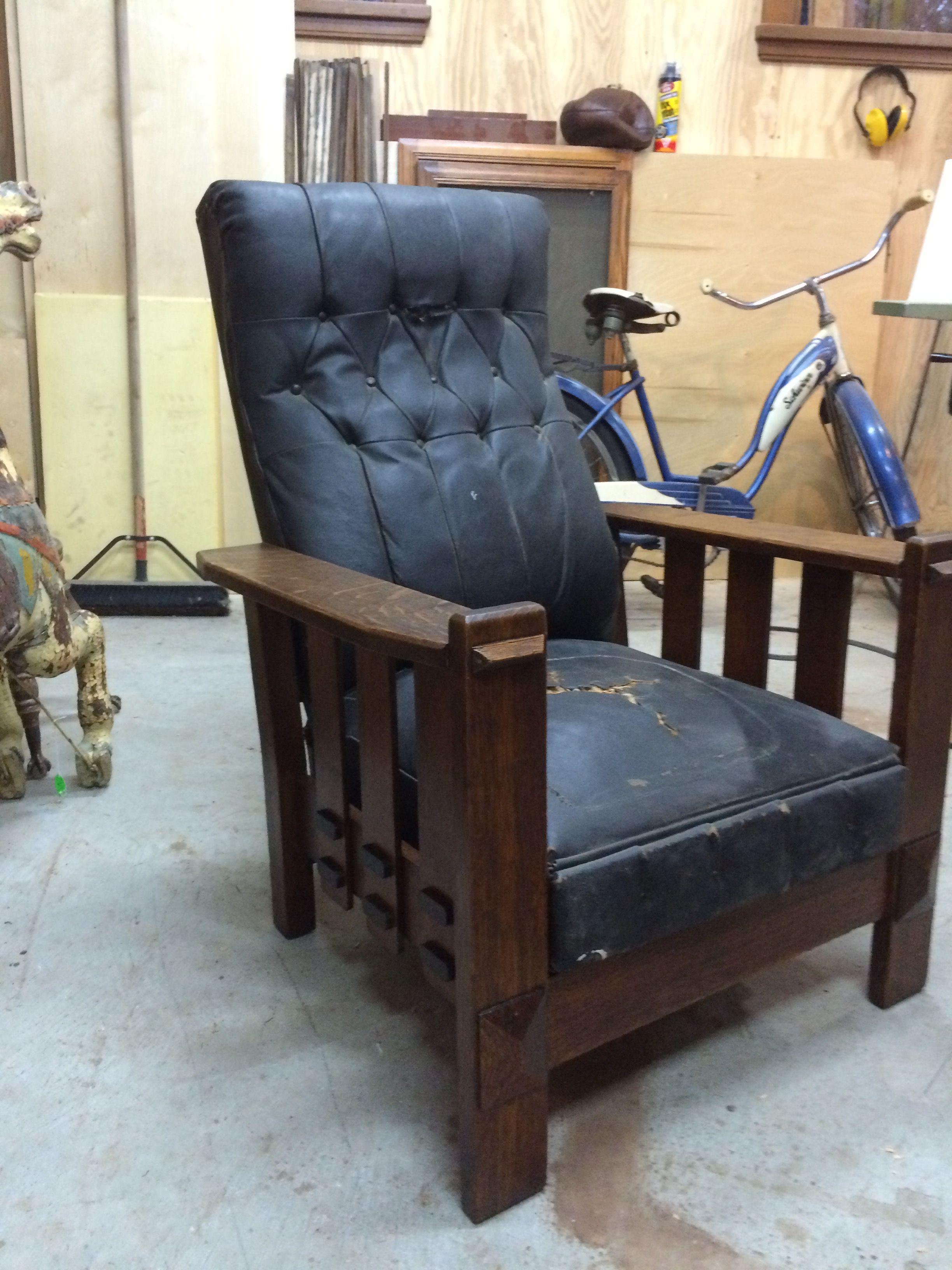Brilliant Morris Chair 1905 1 4 Sawn Oak Called A The Imperial Spiritservingveterans Wood Chair Design Ideas Spiritservingveteransorg