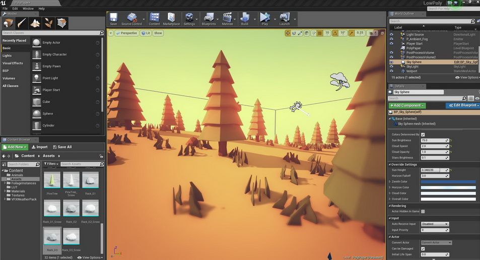 THE SECRETS OF LOW POLY VISUALS - low poly, ue4, gamedev