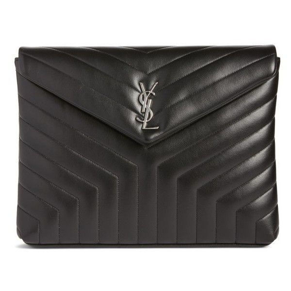 d663c18a02d34 Women s Saint Laurent Large Loulou Matelasse Leather Pouch ( 850) ❤ liked  on Polyvore featuring bags