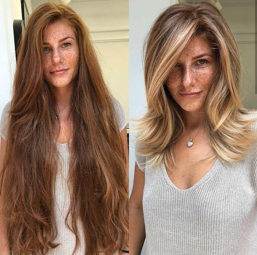 Stunning Balayage Short Hairstyle Balayageshorthair Hair Makeover Medium Hair Styles Hair Transformation