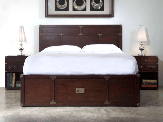Master Bedroom: Campaign Bed with Storage Drawer SD from $1295