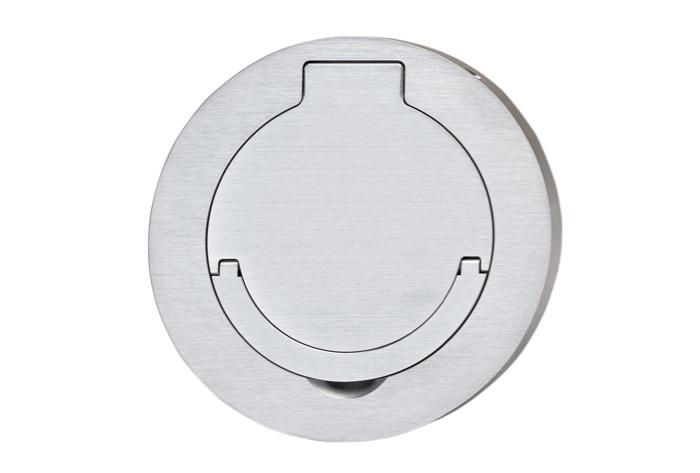LOCATE BRASS RECESSED FLOOR OUTLETSRFB4E Four Compartment Single Or Multi Service Recessed Floor Box RFB4E