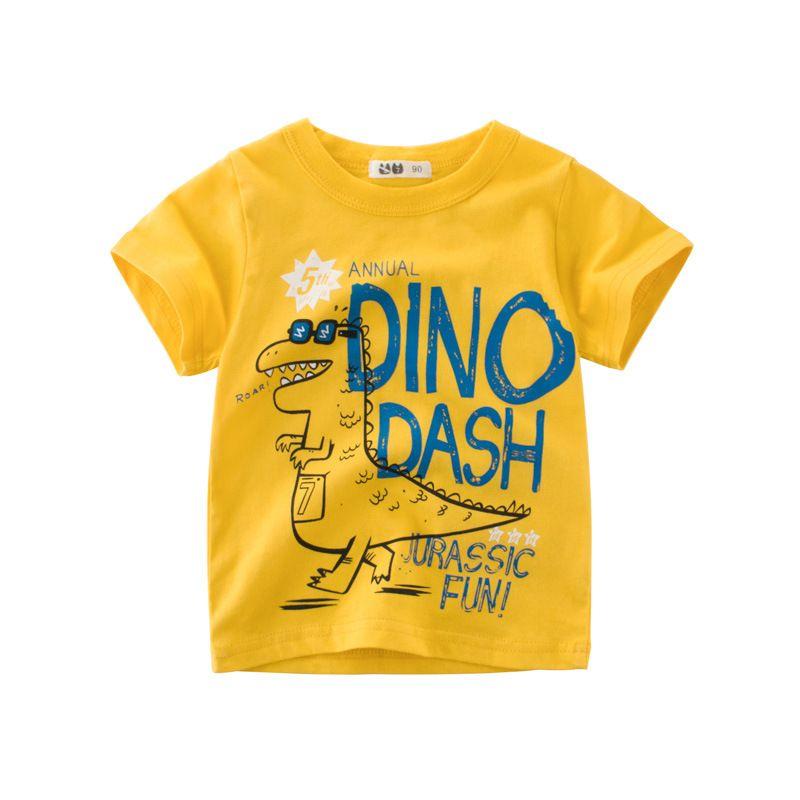 Toddler Children Kid Boys Letter Dinosaur Print T-shirt Tops Shirts Tee Clothes