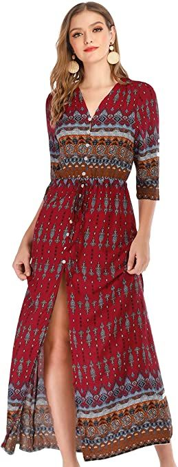 New Summer Dresses For Women At Amazon In 2020 Summer Dresses For Women Half Sleeve Dresses Maxi Dress