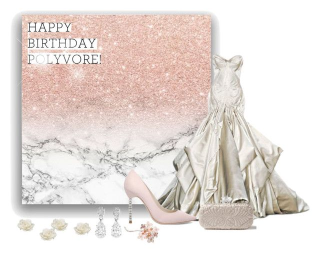 """""""Happy 10th Anniversary!"""" by deaniefrank ❤ liked on Polyvore featuring Allstate Floral, Sophia Webster, Chaumet, polyversary and contestentry"""