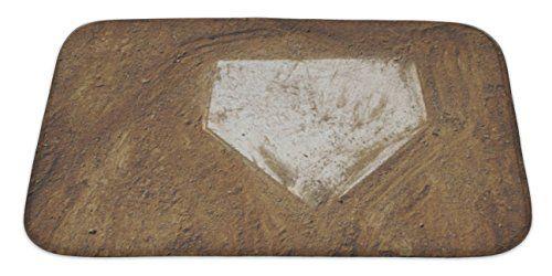 Gear New Home Plate Baseball Bath Mat Microfiber Foam With Non Skid Backing 34 X21 Gn3597