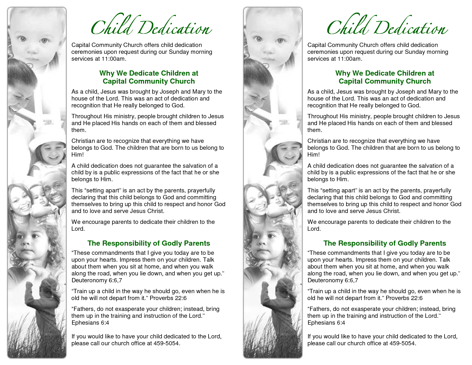 Baby Dedication Ceremony Examples | Sample Baby Dedication ...
