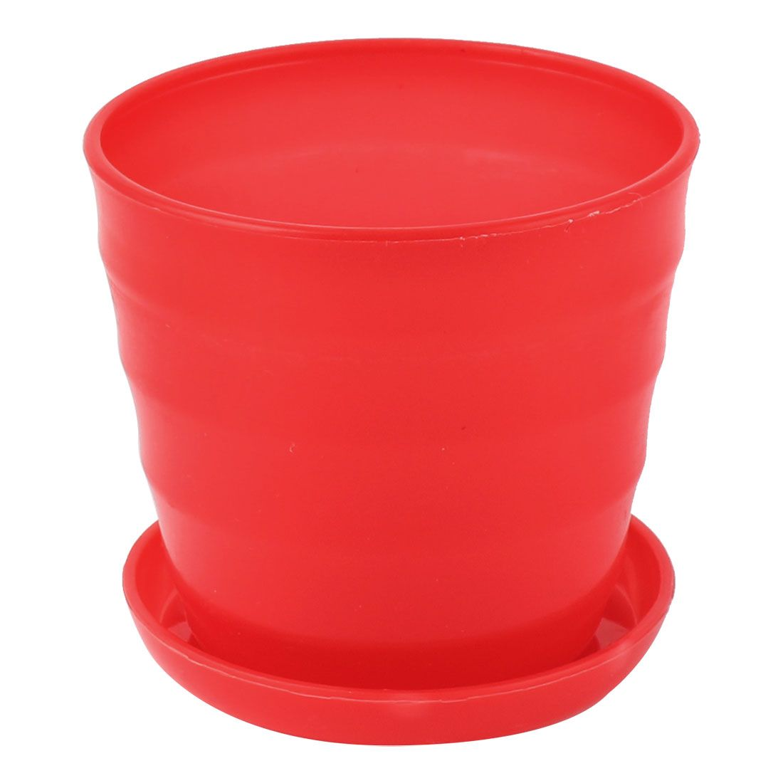 uxcell 9cm dia red plastic stripe pattern home garden office plant
