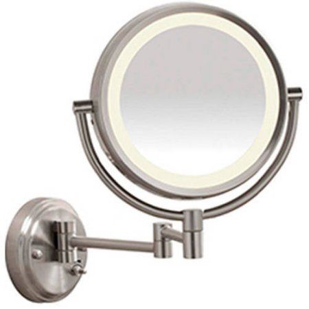 Conair LED Brushed Nickel Wall-Mount Mirror, Model BE6BLED