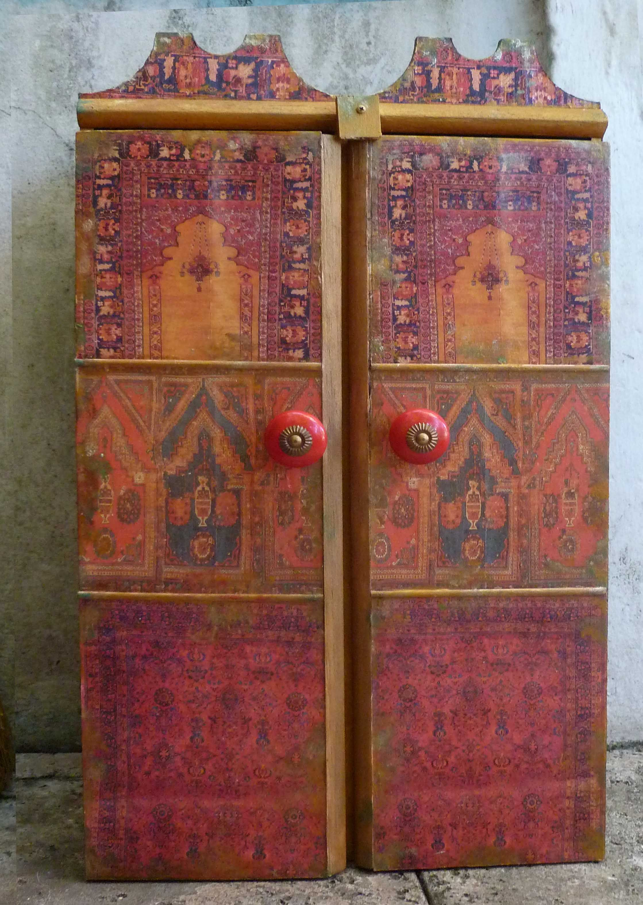 decoupage cabinet from africanartworkbymargrit