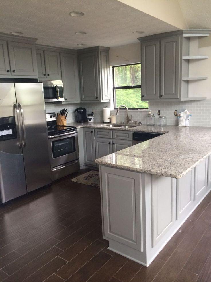 De flesta köksrenoveringar har liknande grunder. andra golv och bänkskivor är #kitchenremodelideas