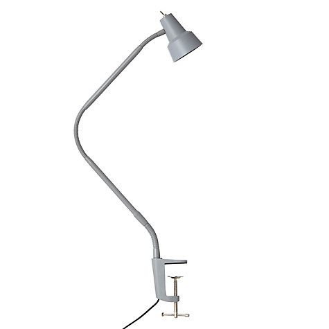 John Lewis Partners Zadie Led Clip On Desk Lamp With Clamp Grey