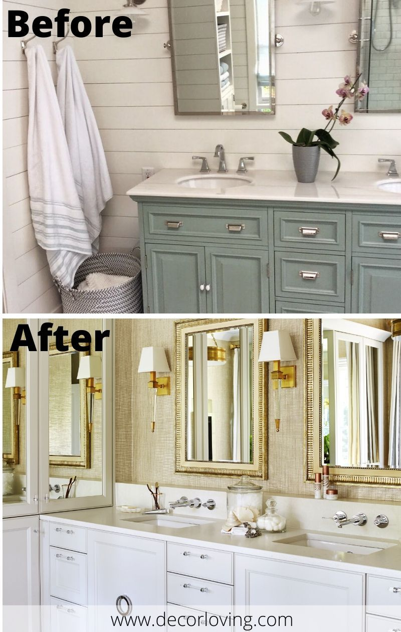 Stunning Bathroom Cabinets Before And After On A Budget Bathroom Decor Bathroom Decor Themes Ocean Bathroom Decor