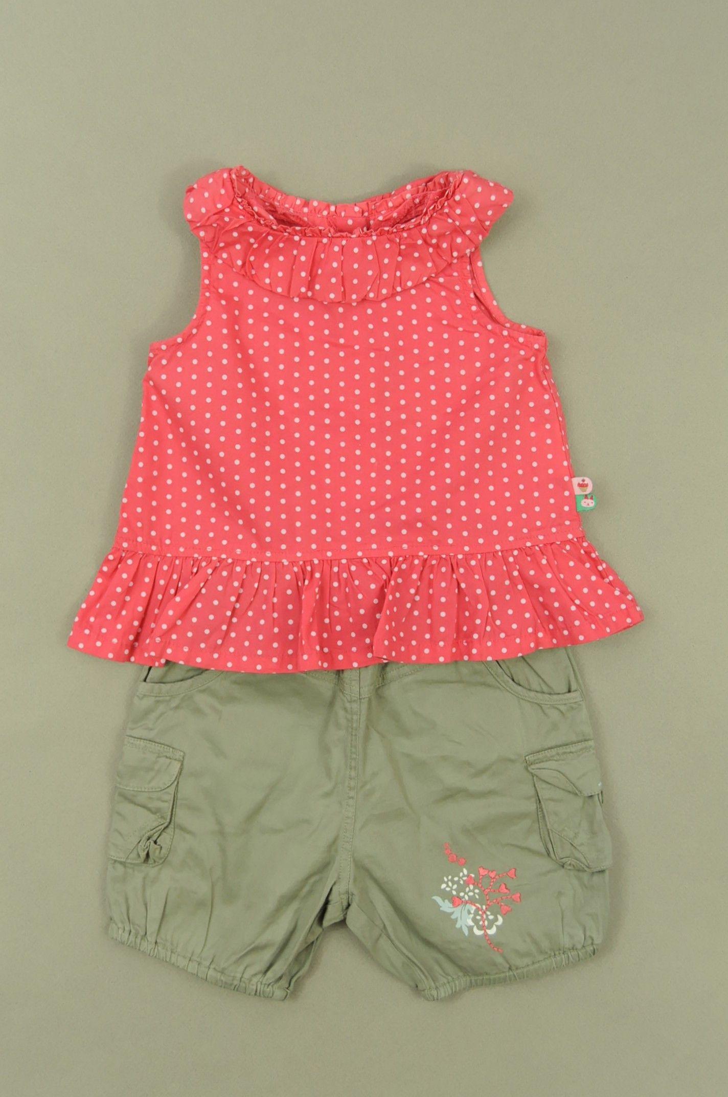 2207a801c3b24 Short et blouse de la marque Autres marques en taille 12 mois - Affairesdeptits  vetement occasion enfant bebe pas cher