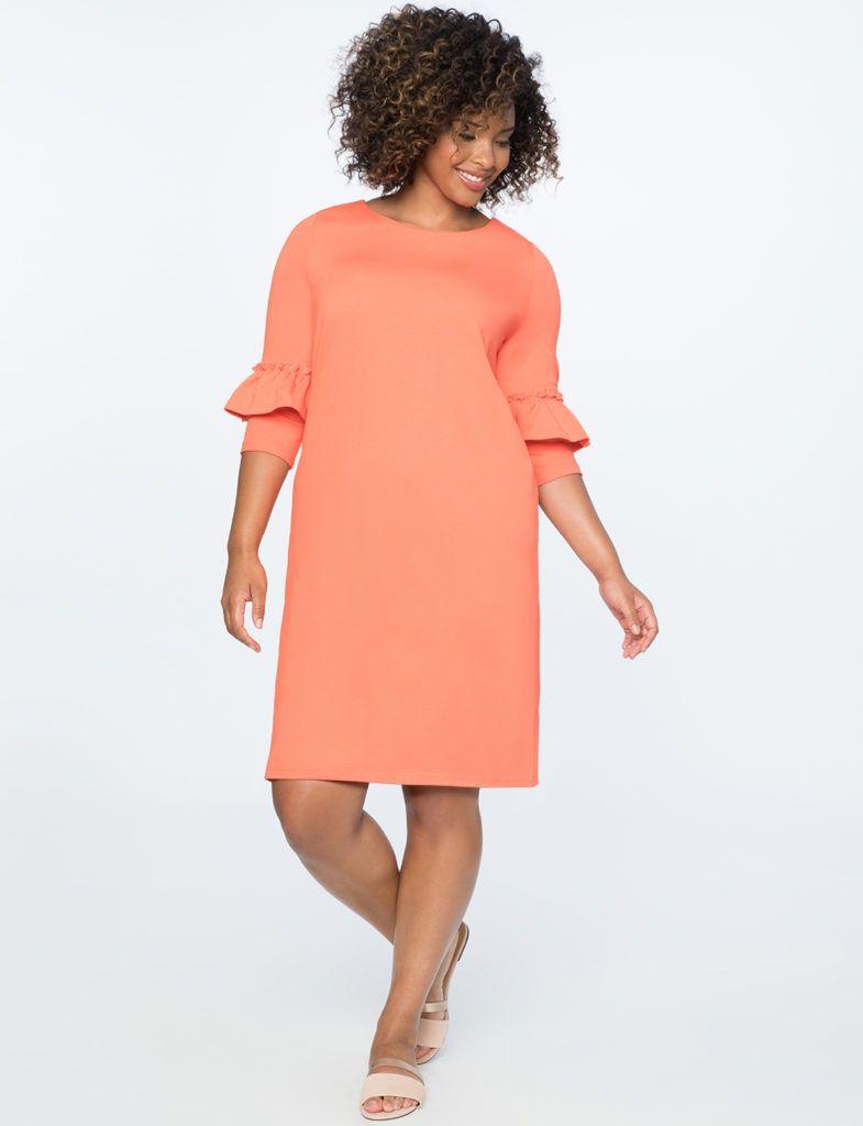 coral color plus size dresses | Coral | Dresses, Dress barn ...