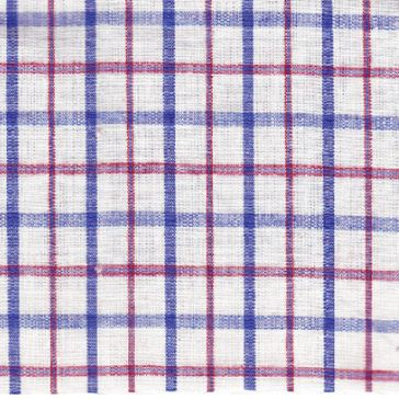 Organic Cotton & Bamboo - Blue Check from Offset Warehouse  This owuld make a nice men's or boy's shirt.