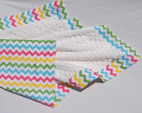 SALE Baby Girl Chevron Blanket Pink Yellow Green and by BoCoBaby