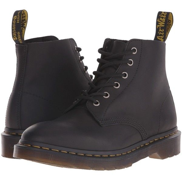 Dr. Martens Ali 6-Eye Boot (Black Greasy) Lace-up Boots