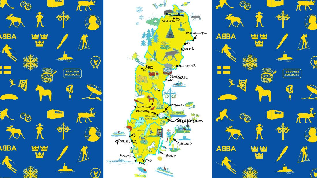 Ruotsin Kartta Kuvina Ruotsi Ruotsin Kieli Oppiminen