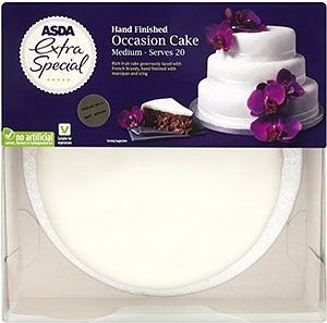 Asda Extra Special Hand Finished Medium Iced Fruit Occasion Cake 20 Servings 1 35kg