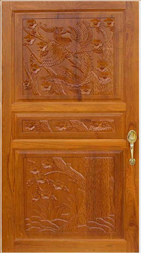 House front door design kerala style front door designs for Simple wooden front door designs