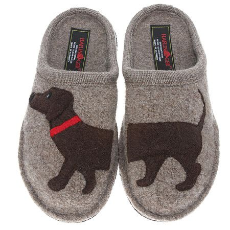 Haflinger Womens Doggy Applique Slipper