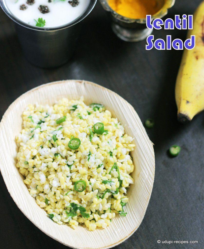 Rama navami recipe lentil salad lentils and salad moong lentil salad recipe for rama navami forumfinder Image collections