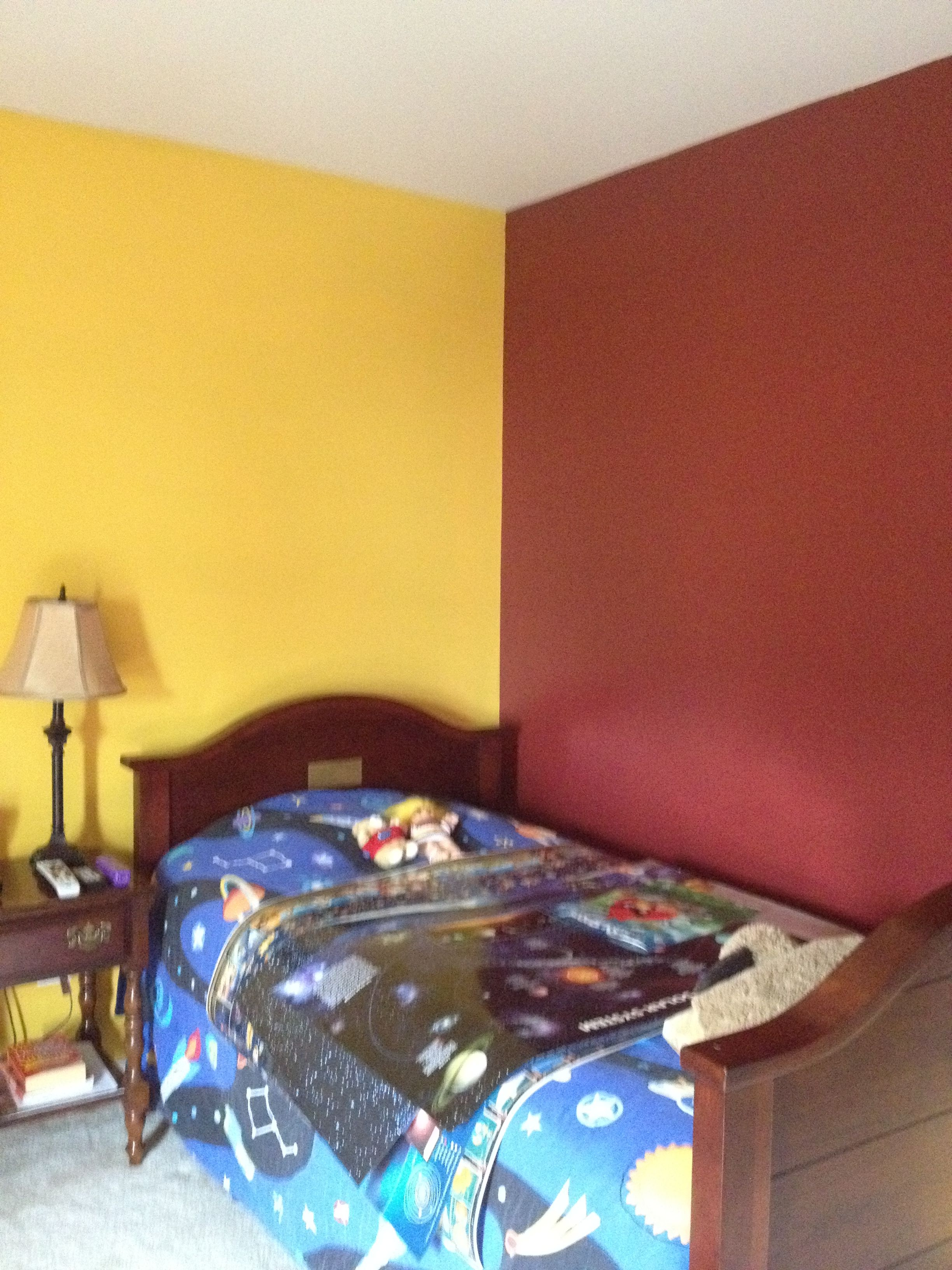Washington Redskins room (that color is actually called \