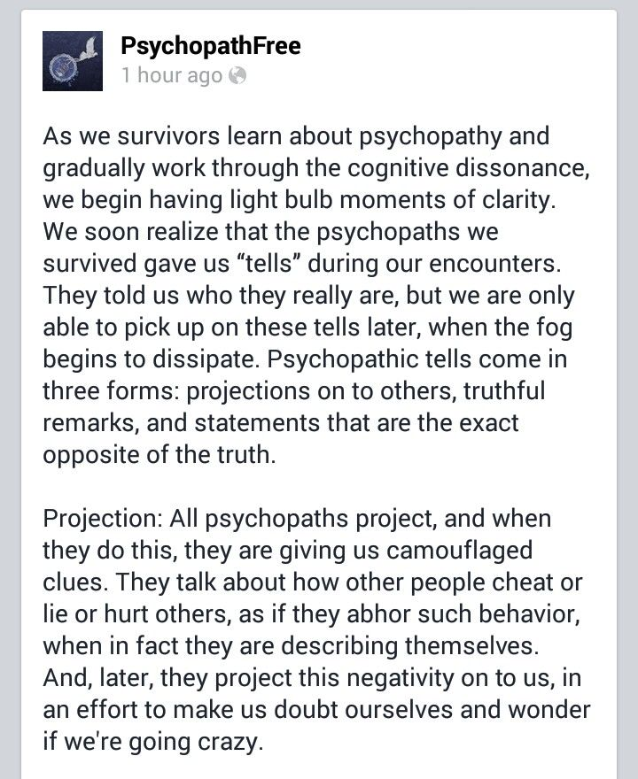 Sociopath projection