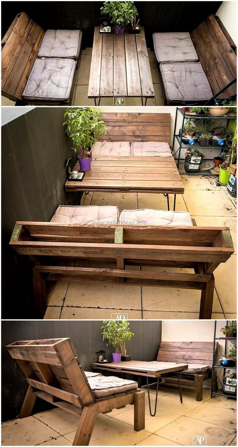 wooden pallet patio furniture. Transform Wood Pallet In To Something Useful Such As Reused Pallets Patio Furniture. Arrange Rectangular Manner And Repeating The Process Wooden Furniture