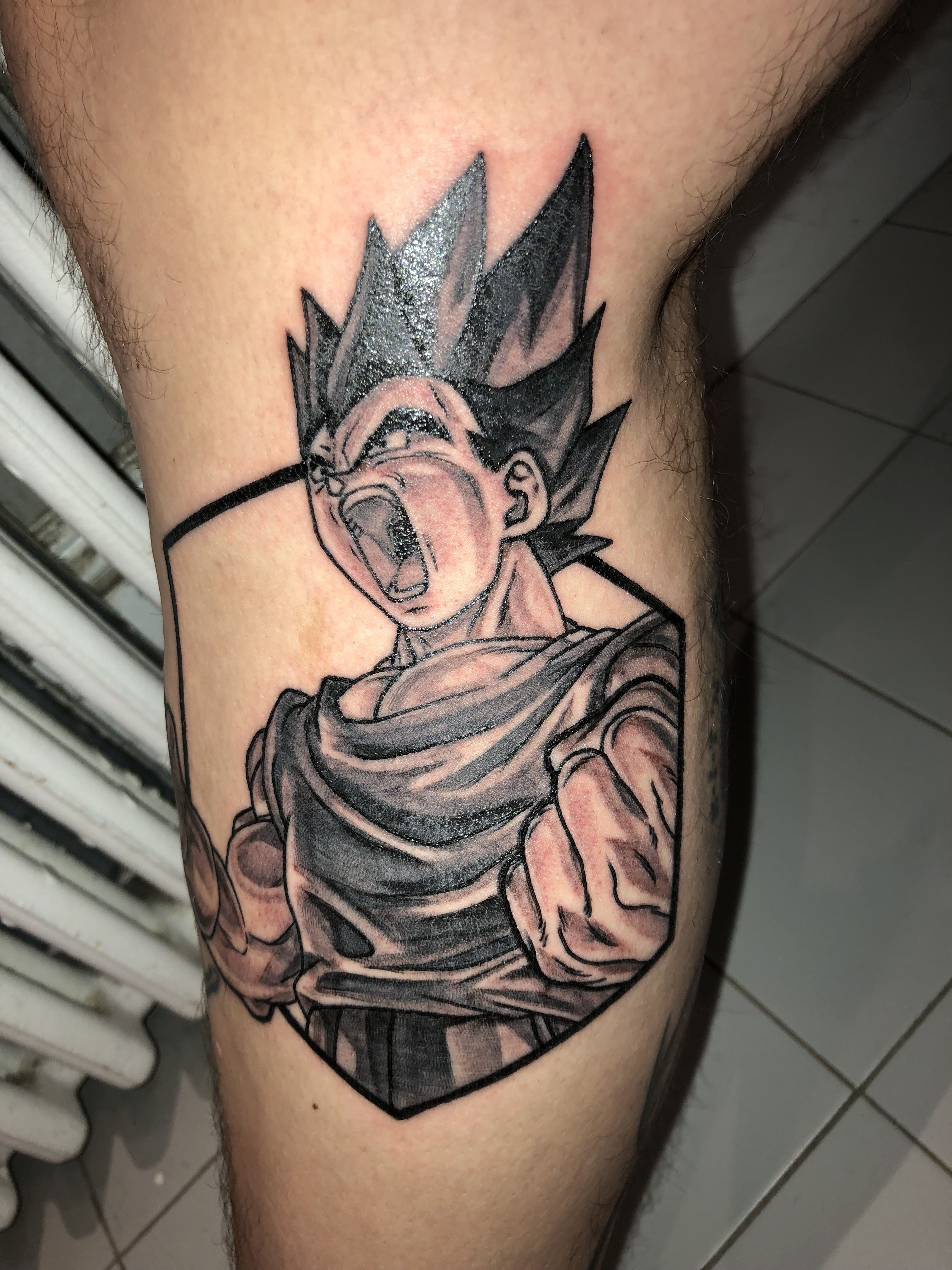 Vegeta Tattoo Leg Sleeve Dragonball Z