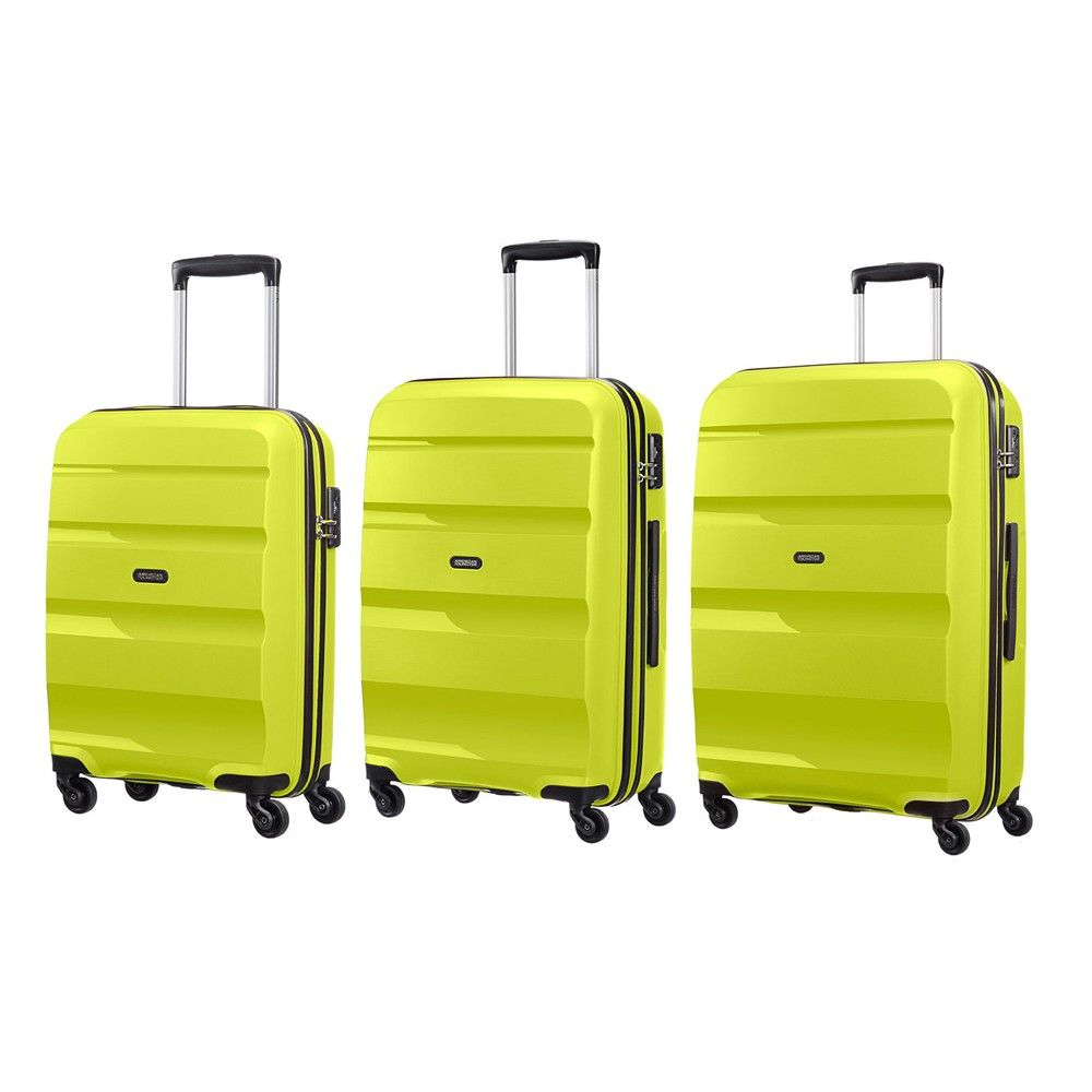 Get the 3-PC set of American Tourister Bon-Air. The bags come in ...