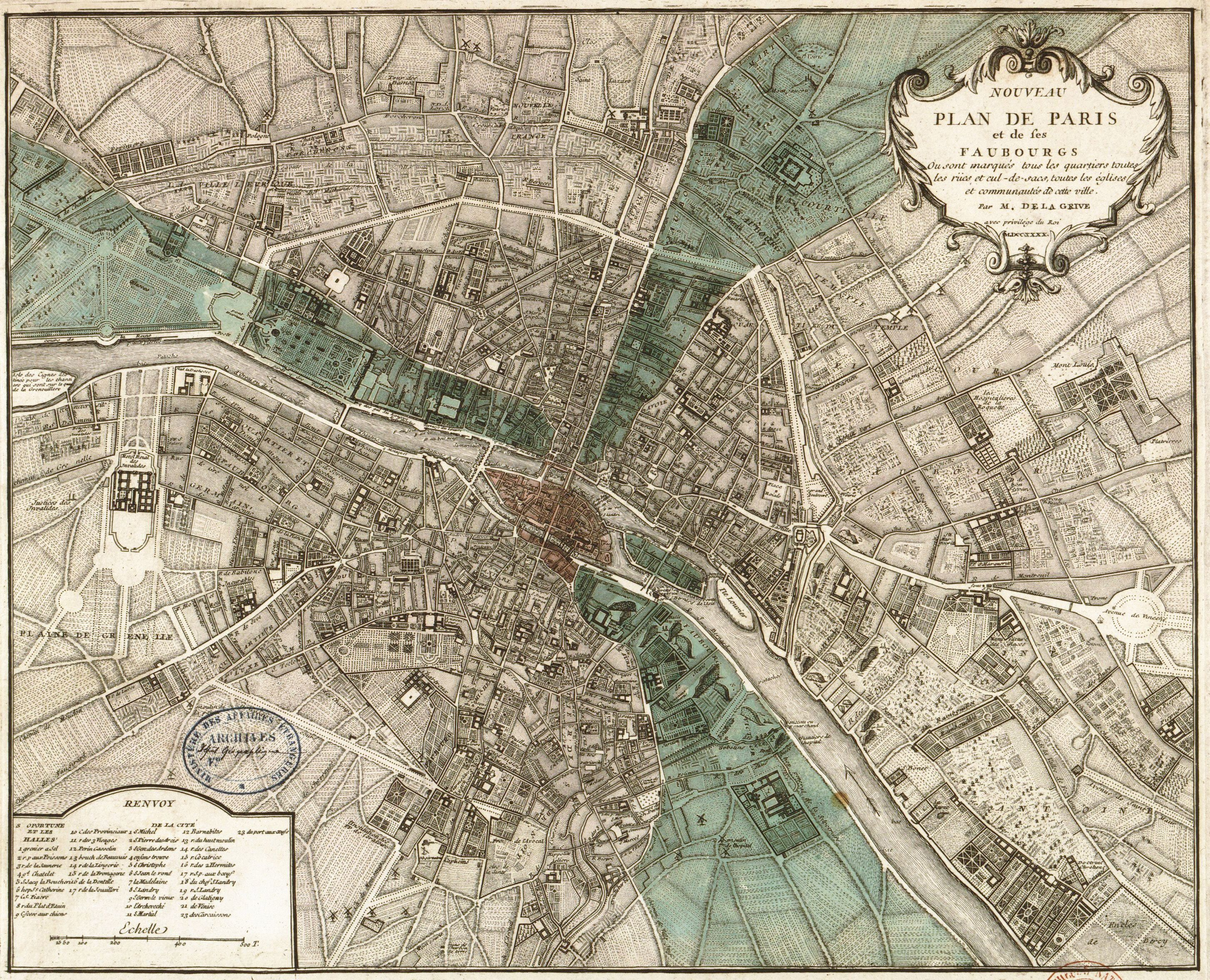 paris i old maps of paris year th century maps