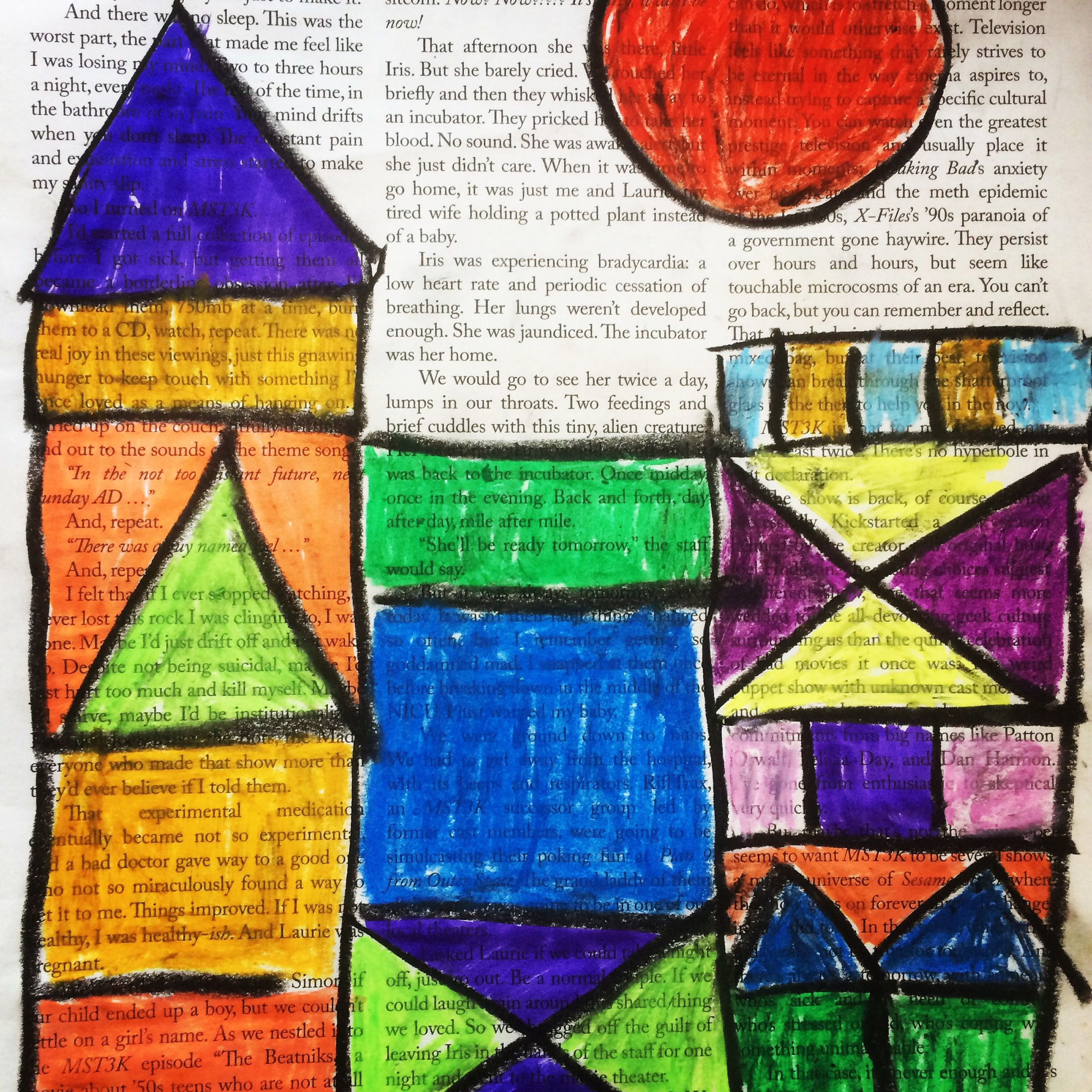 Paul Klee Castles The Castles Come Out Great On Newspaper