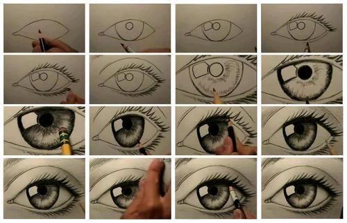 Olhos Passo A Passo Olhos Desenho Arte Olho E Coisas Para